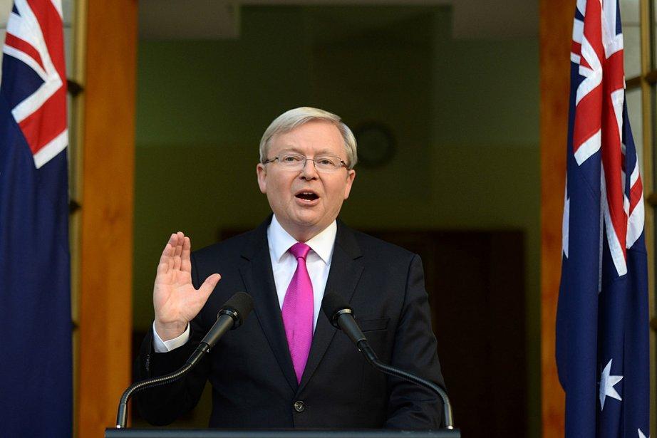 Le premier ministre de l'Australie Kevin Rudd.... (PHOTO Lukas Coch, ASSOCIATED PRESS)