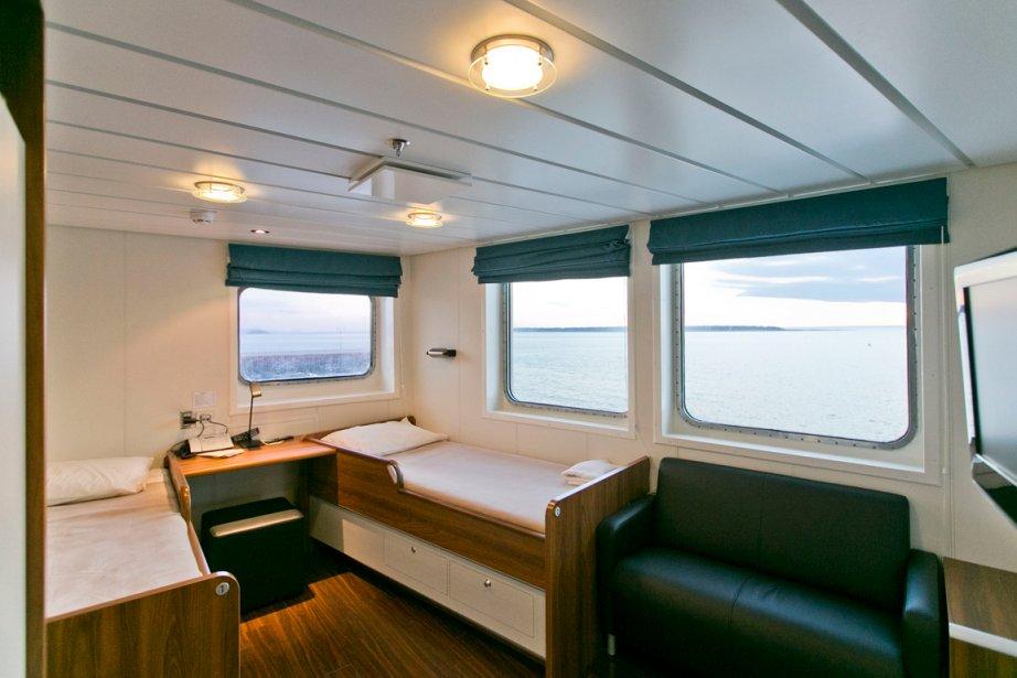 Chambre de première classe à l'avant du navire. | 5 août 2013