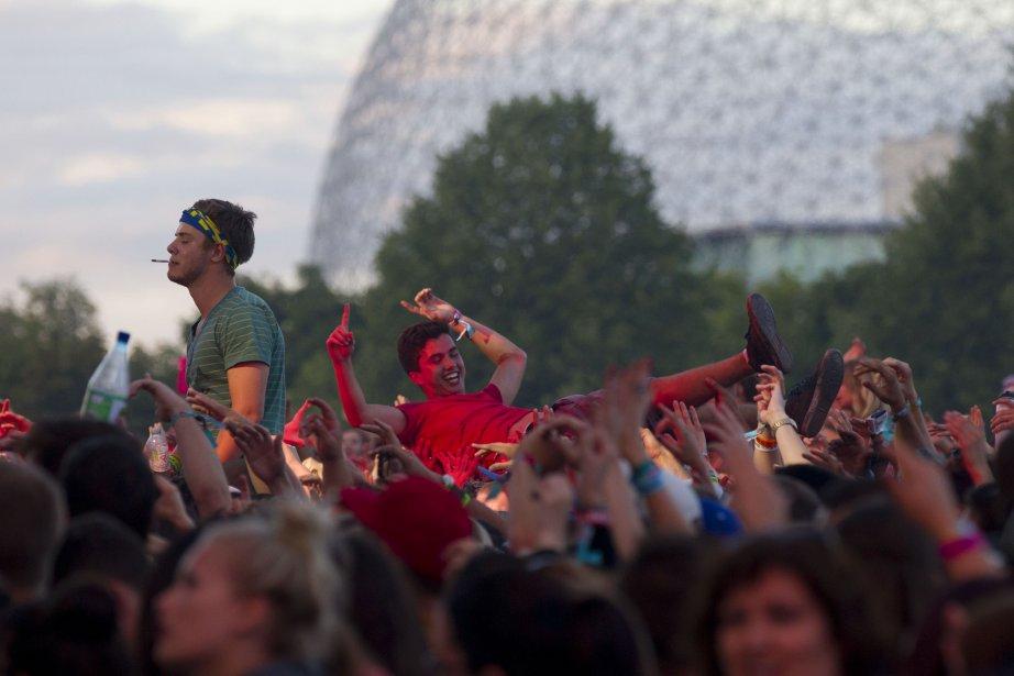 La foule en délire durant le spectacle de Kendrick Lamar. | 5 août 2013