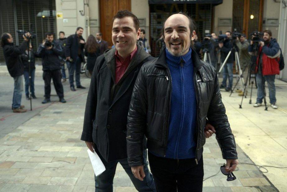 Rodrigo Borda et Sergio Miranda ont été les... (Photo Matilde Campodonico, Associated Press)