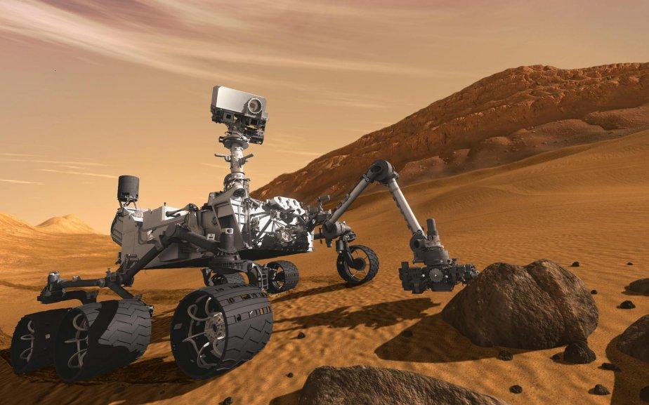 Image détaillée de Curiosity. (Image fournie par la NASA)