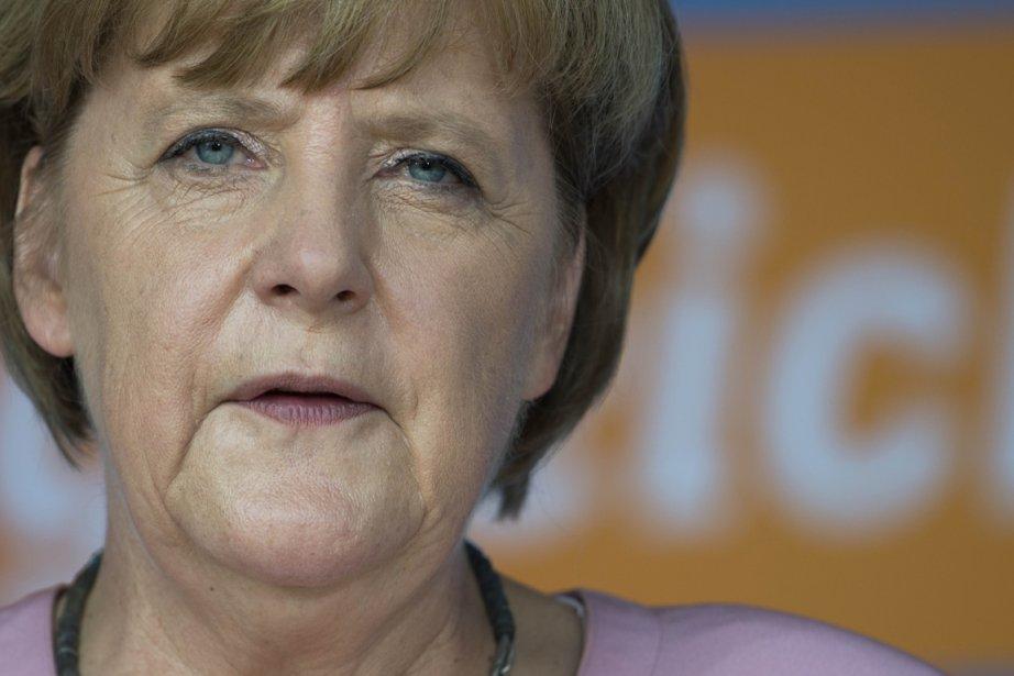 La Chancelière allemande, Angela Merkel.... (PHOTO JOHANNES EISELE, AFP)