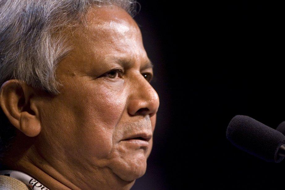 Muhammad Yunus, 73 ans, est en délicatesse avec... (PHOTO ARCHIVES AFP)