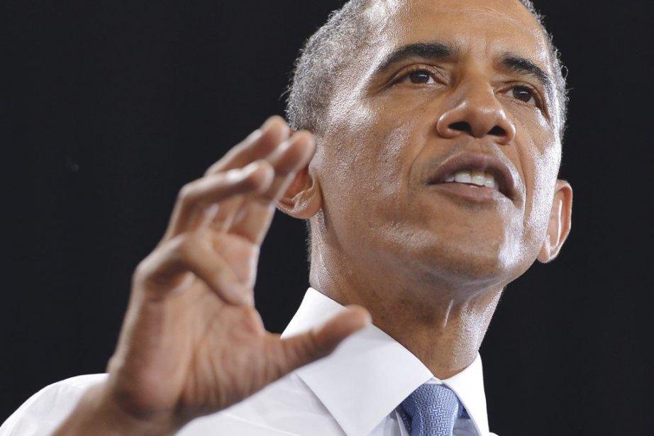 Barack Obama était de passage en Arizona mercredi,... (PHOTO MANDEL NGAN, AFP)