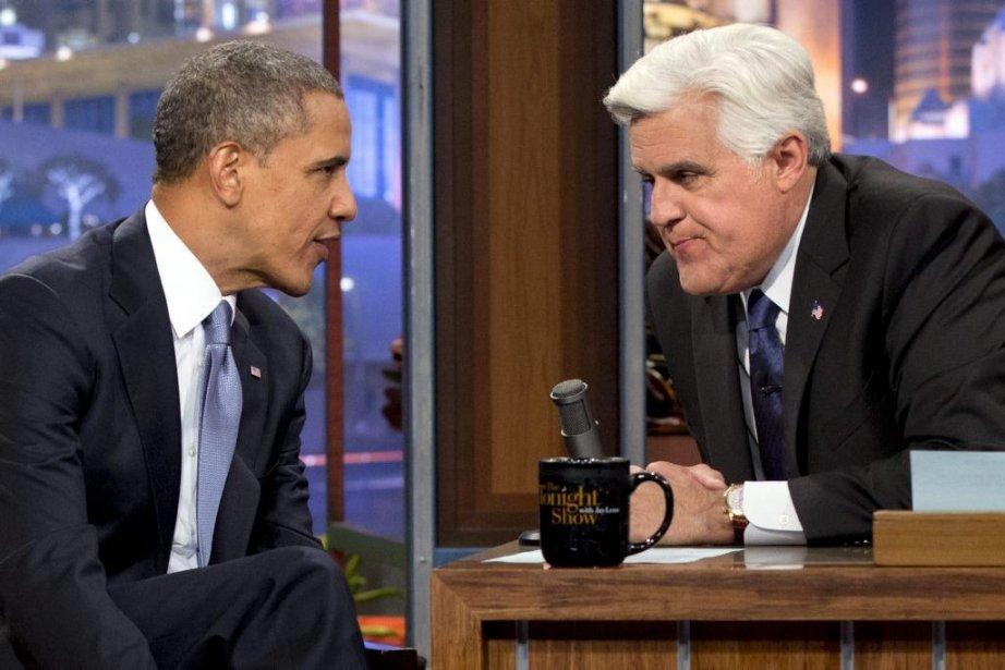 Le président Barack Obama et l'animateur Jay Leno.... (Photo Jacquelyn Martin, Associated Press)