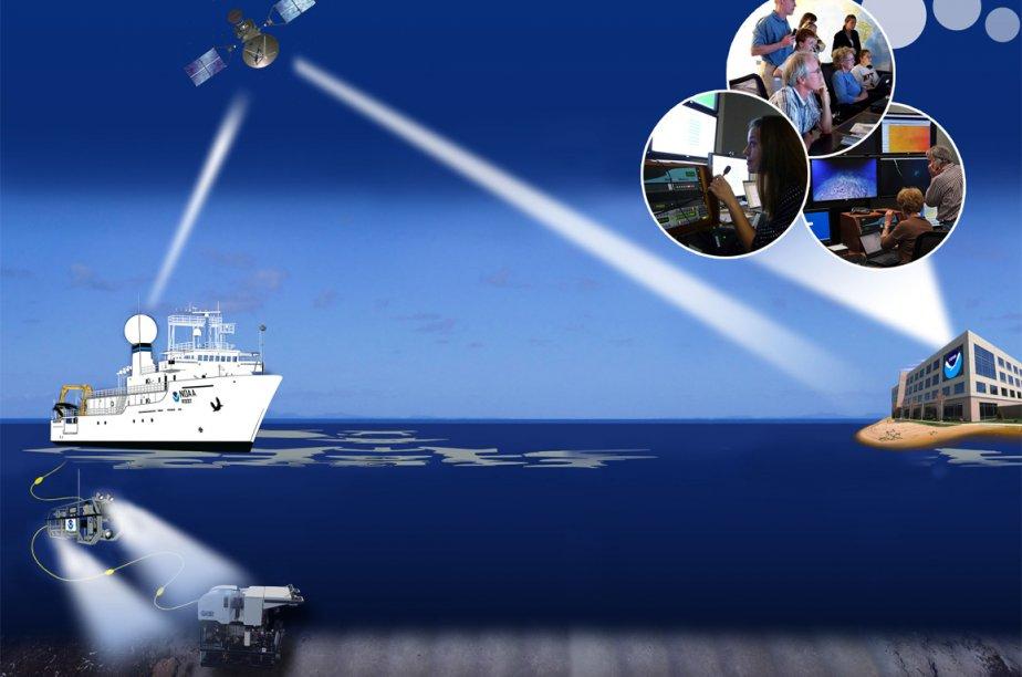 C'est la première fois que la NOAA collabore... (Photo fournie par la NOAA)