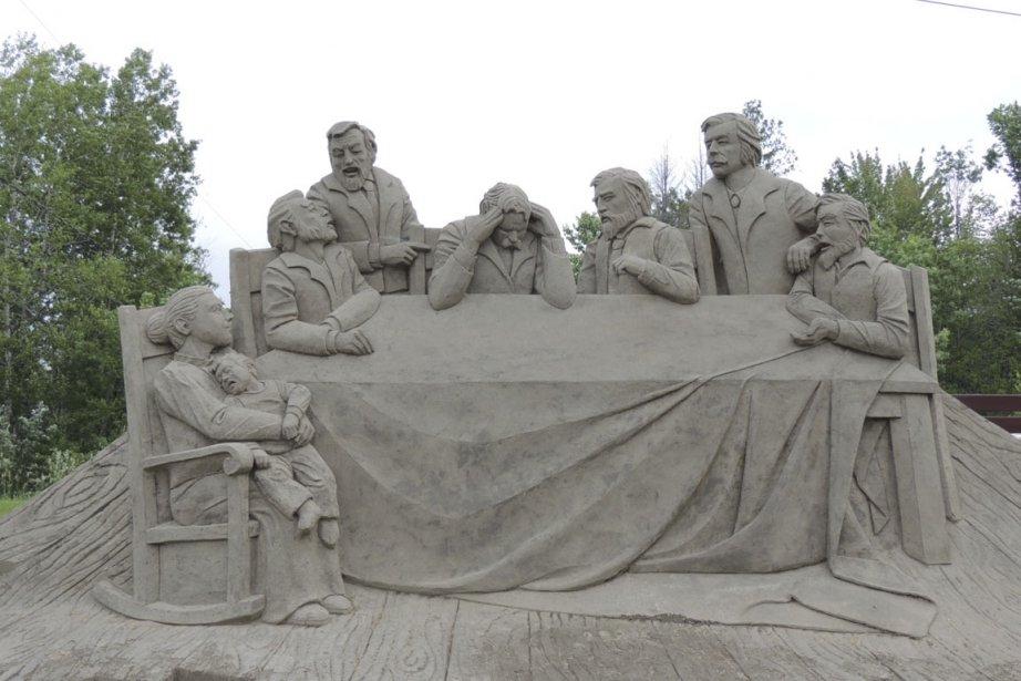 Cette sculpture de sable de l'artiste Stephane Robert... (Photo La Tribune)