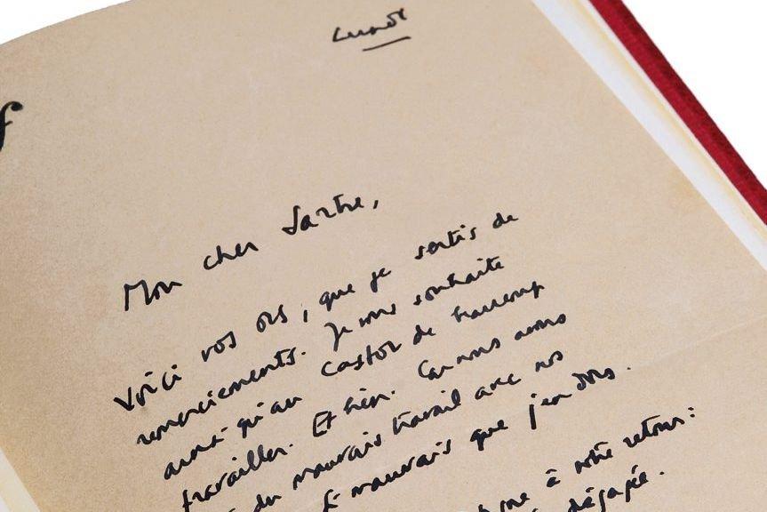 «Mon cher Sartre (...) Faites-moi signe à votre retour et nous... (Photo: AFP)