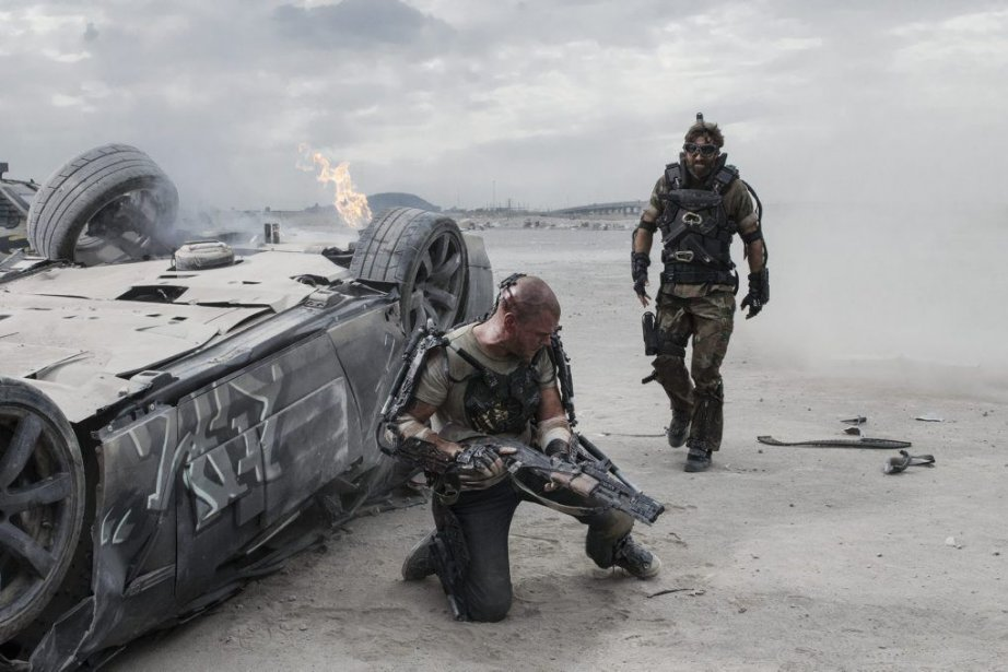 Matt Damon et Sharlto Copley dans Elysium du... (Photo: AP)