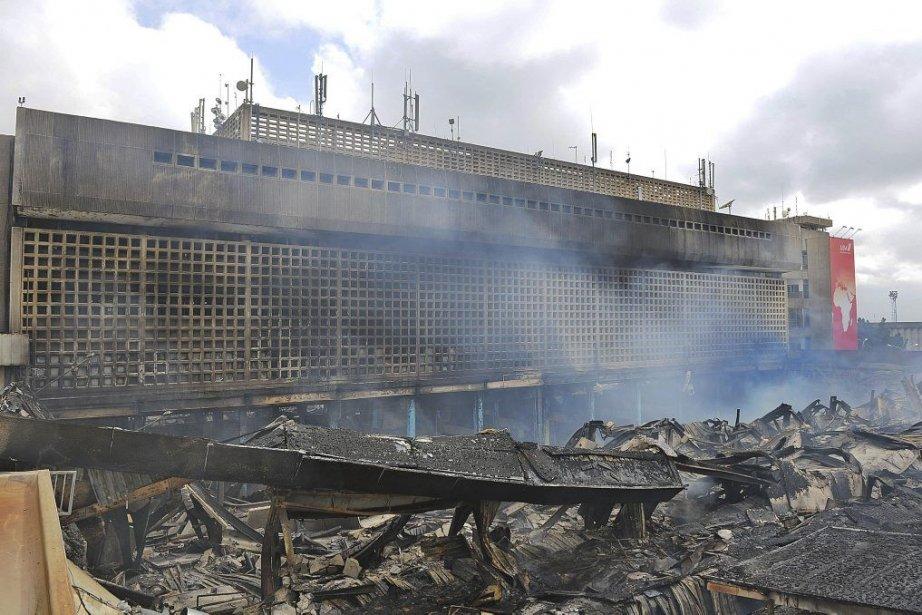 KIA, important hub africain, a été paralysé mercredi... (Photo Tony Karumba, Agence France-Presse)