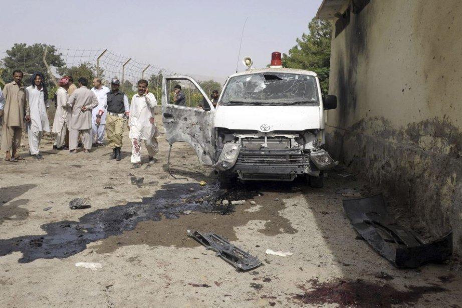 L'explosion a eu lieu dans l'après-midi dans le... (Photo Banaras Khan, Agence France-Presse)