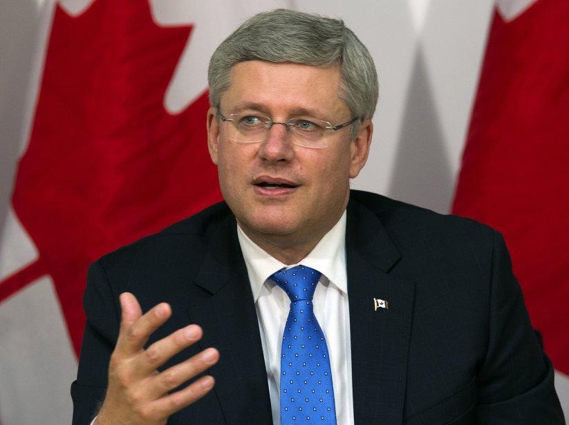 Le premier ministre Stephen Harper a affirmé que... (Photo Andrew Vaughan, La Presse Canadienne)
