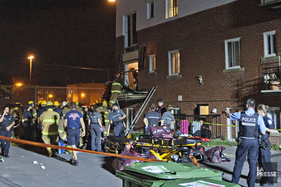 L'effondrement d'un balcon, situé au... (PHOTO FÉLIX O.J. FOURNIER, LA PRESSE)