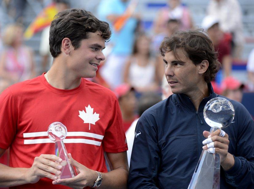 Raonic a bien pris l'avance 1-0 dans le match avec un as, mais Nadal l'a brisé dès la prochaine occasion en forçant Roanic à s'engager dans des longs échanges en fond de terrain, la spécialité de l'Espagnol. | 11 août 2013
