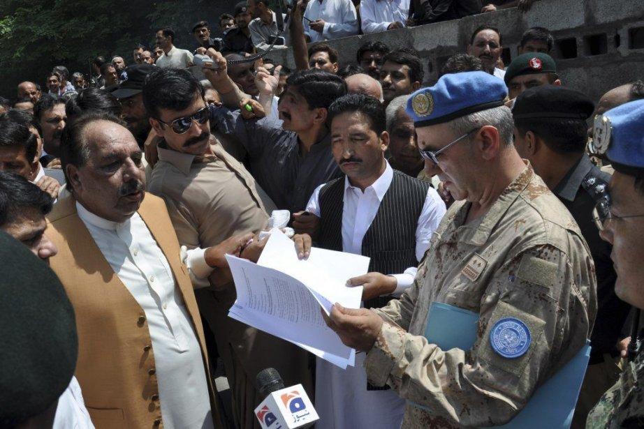 Le premier ministre de la portion du Cachemire... (Photo Sajjad Qayyum, Agence France-Presse)
