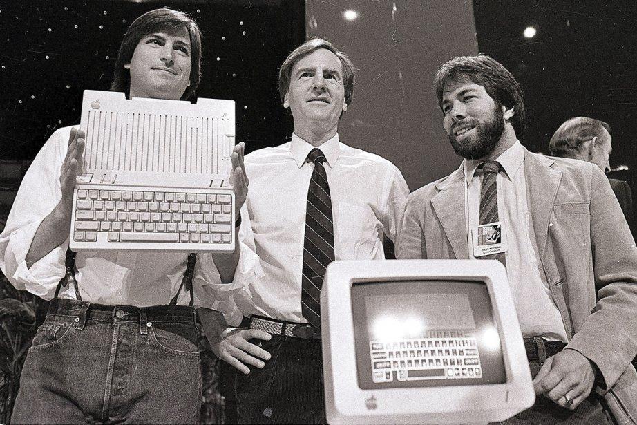 Steve Jobs, John Sculley et Steve Wozniak en... (Photo: archives AP)