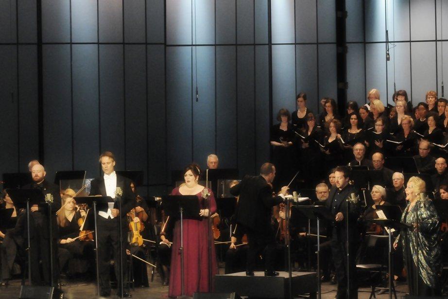 Les interprètes de Lohengrin à Lanaudière: de g.... (Photo: Christina Alonso, fournie par le Festival de Lanaudière)