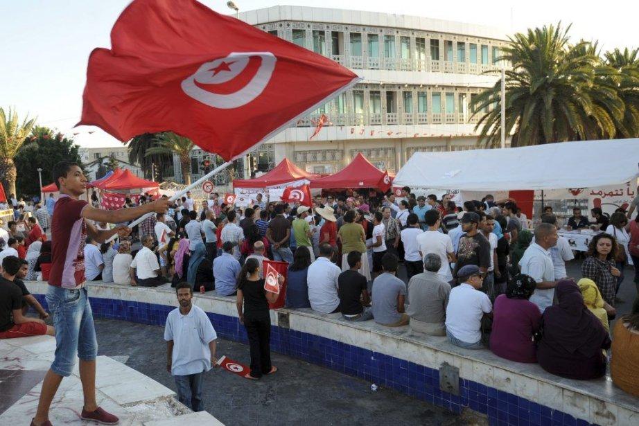 Les manifestations contre le gouvernement islamiste sont quotidiennes... (Photo Fethi Belaid, Agence France-Presse)