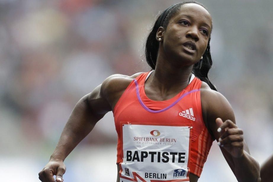 Kelly-Ann Baptiste a été médaillée de bronze en... (Photo : Markus Schreiber, archives AP)
