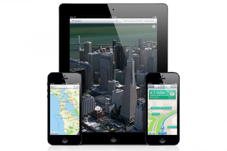 La fonction Flyover d'Apple qui permet le survol... (Photo Apple)