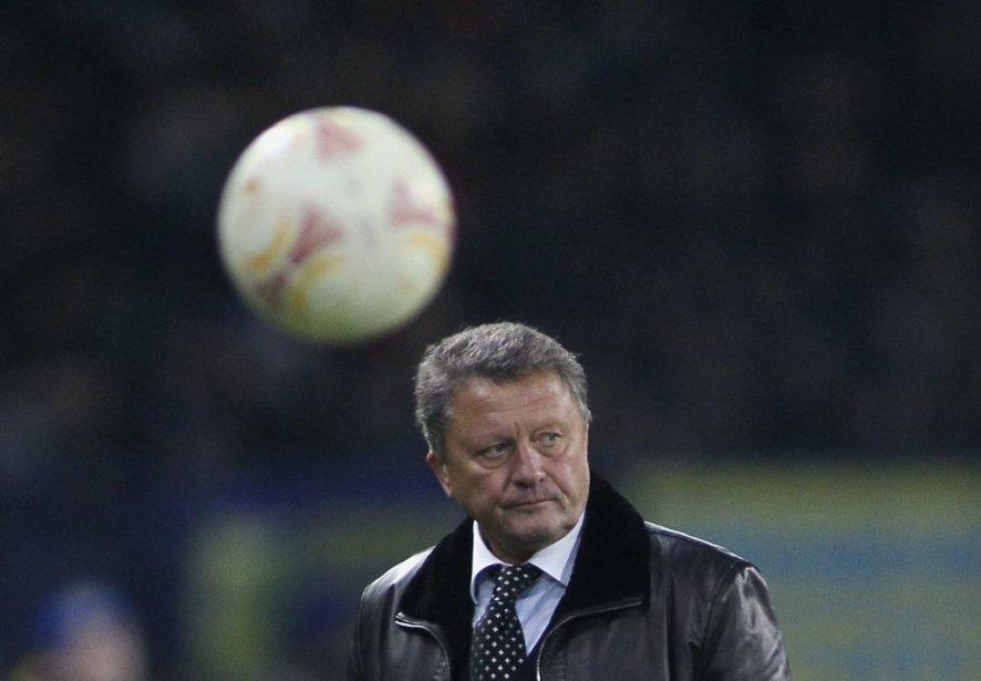 L'entraîneur du Metalist Kharkiv, Myron Markevich.... (Photo Gleb Garanich, Reuters)