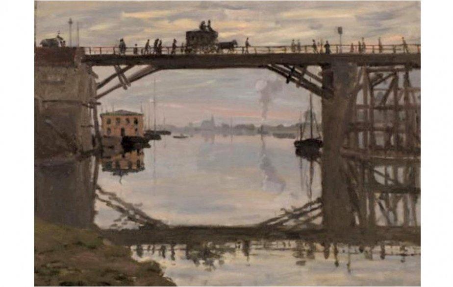 Le Pont de bois de Claude Monet...