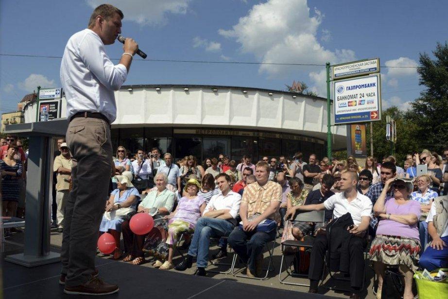 Alexeï Navalny a multiplié les initiatives et mené... (Photo Vasily Maximov, Agence France-Presse)