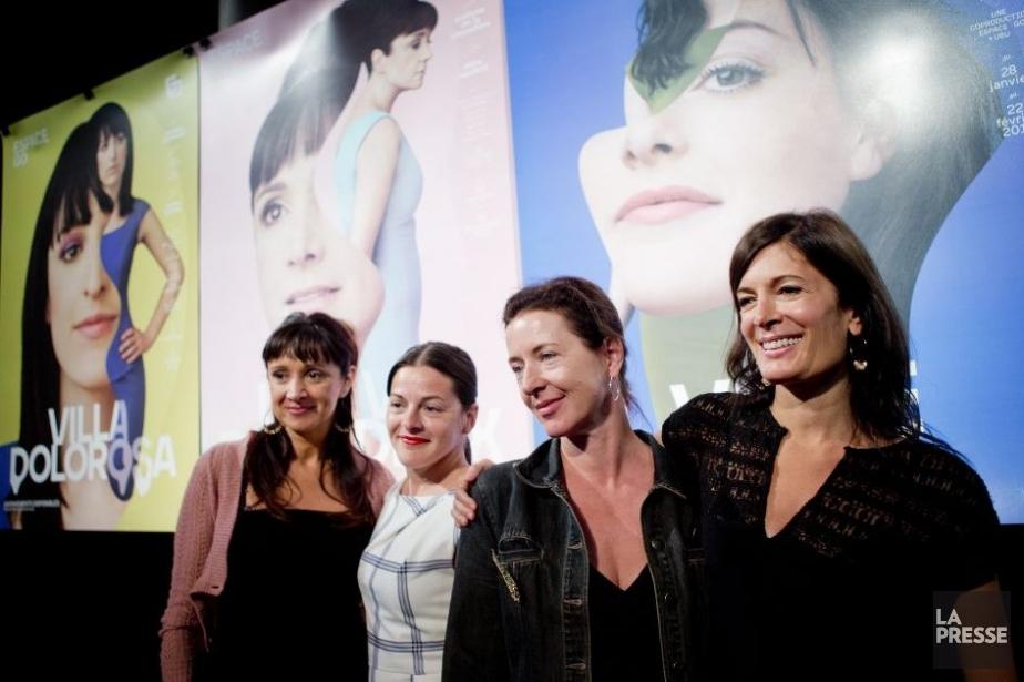 Les comédiennes Violette Chauveau, Sophie Cadieux, Marie-France Lambert... (Photo: Marco Campanozzi, La Presse)