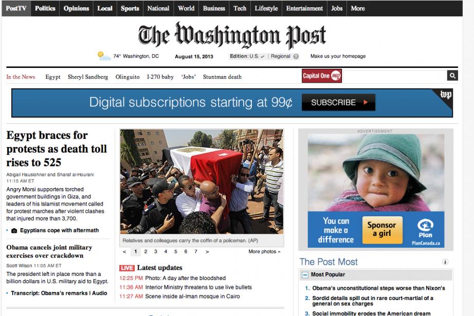 Le Washington Post a annoncé jeudi que son site internet avait été...