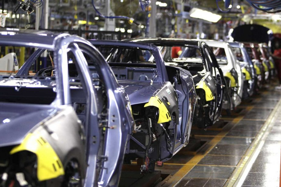 Une usine Chrysler au Michigan.... (PHOTO CARLOS OSORIO, AP)