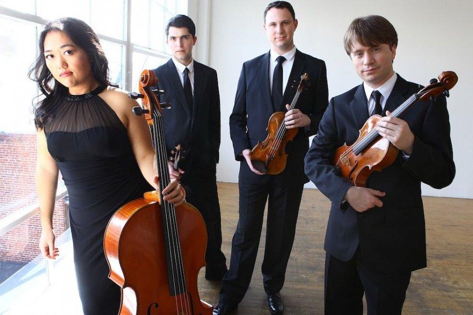 Les membres du jeune Quatuor Calidore.... (Photo fournie par l'Académie internationale de Quatuor à cordes de McGill)