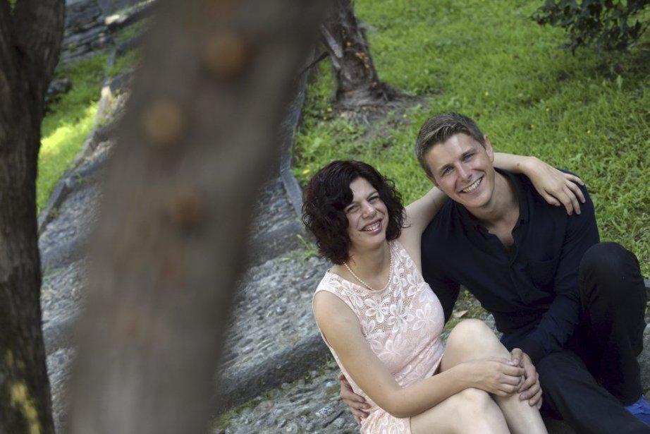 Les acteurs Gabrielle Marion-Rivard et Alexandre Landry.... (Photo Ti-Press / Samuel Golay)