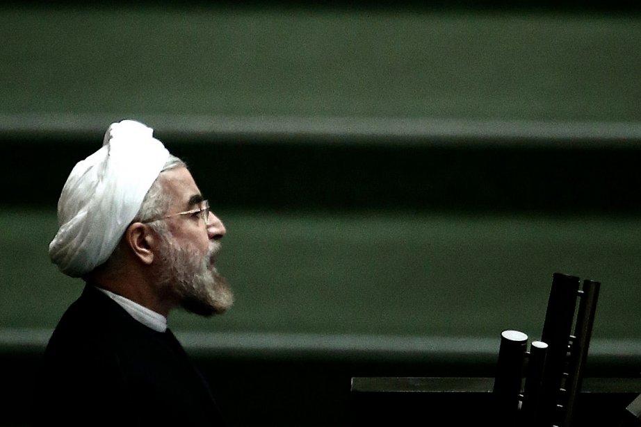 Le président iranien Hassan Rohani.... (PHOTO BEHROUZ MEHRI, AGENCE FRANCE PRESSE)