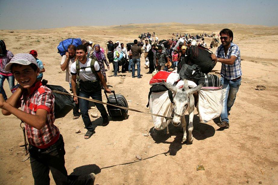 Selon les Nations unies, 5000 à 7000 réfugiés... (PHOTO SAFIN HAMED, AGENCE FRANCE PRESSE)