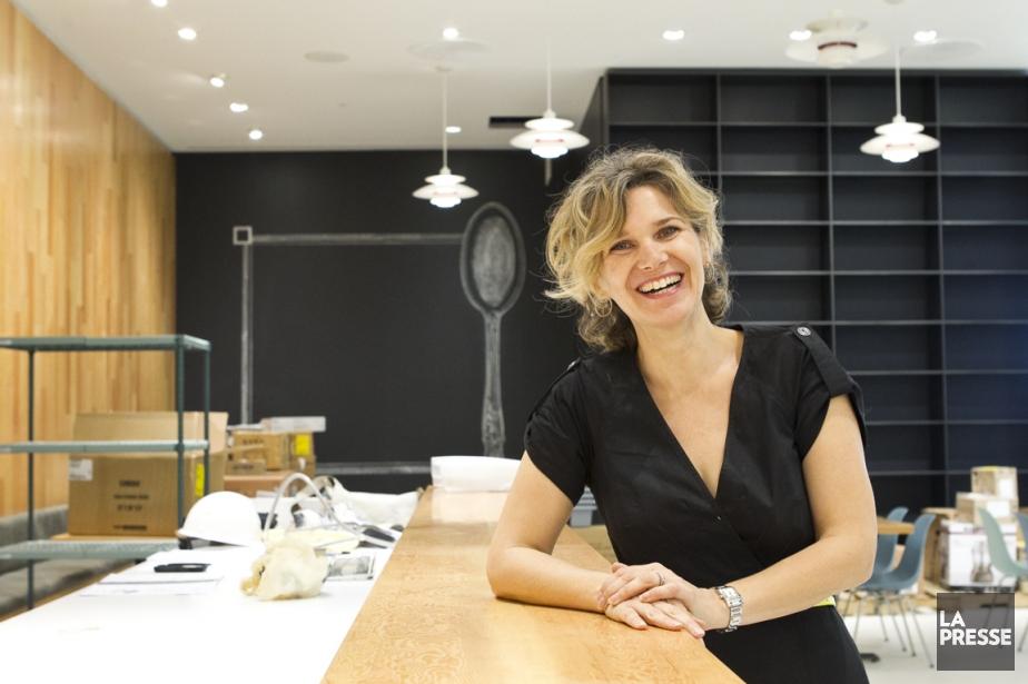 Caroline Dumas, propriétaire et fondatrice deSoupesoup, dans le... (PHOTO HUGO-SÉBASTIEN AUBERT, LA PRESSE)