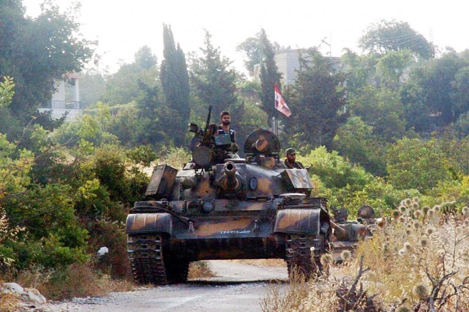 Un tank de l'armée syrienne.... (PHOTO ARCHIVES AFP/SANA)