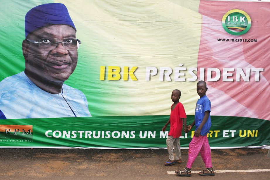 Fort de son écrasante victoire, Ibrahim Boubacar Keïta,... (PHOTO JOE PENNEY, ARCHIVES REUTERS)