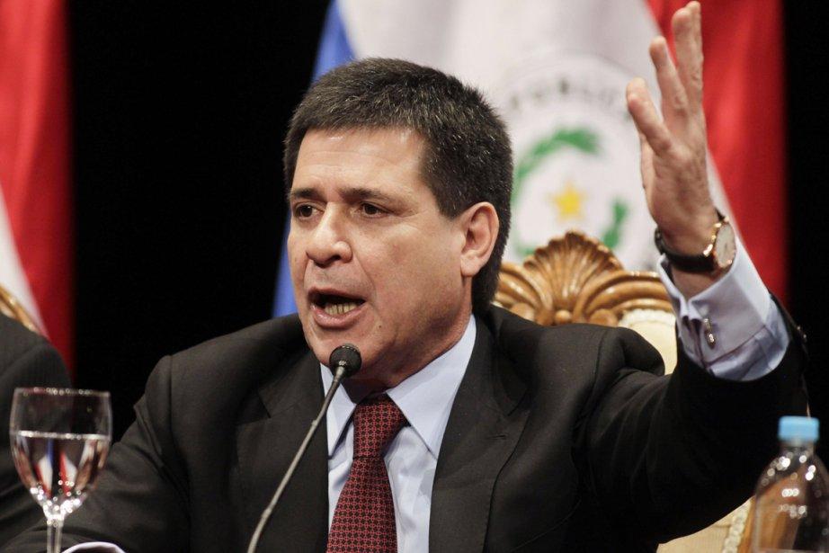 Le controversé président du ParaguayHoracio Cartes.... (PHOTO JORGE ADORNO, ARCHIVES REUTERS)