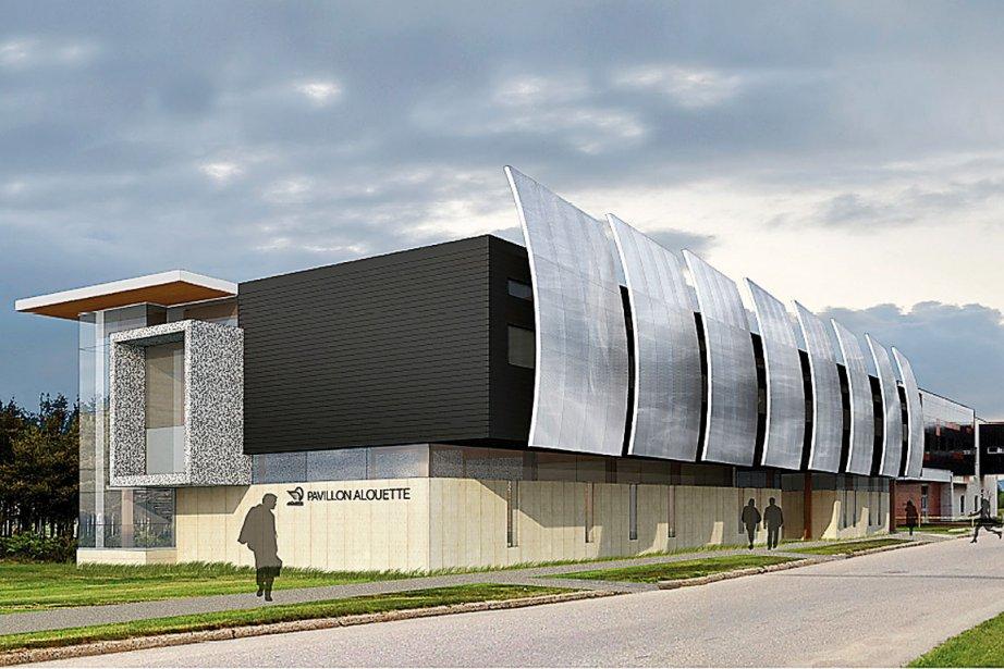 Création des architectes BGLA, le pavillon universitaire Alouette... (Fournie par Aluminerie Alouette)