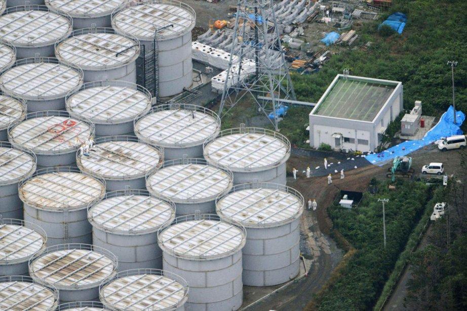 Depuis plusieurs jours, un réservoir de stockage d'eau... (PHOTO REUTERS)