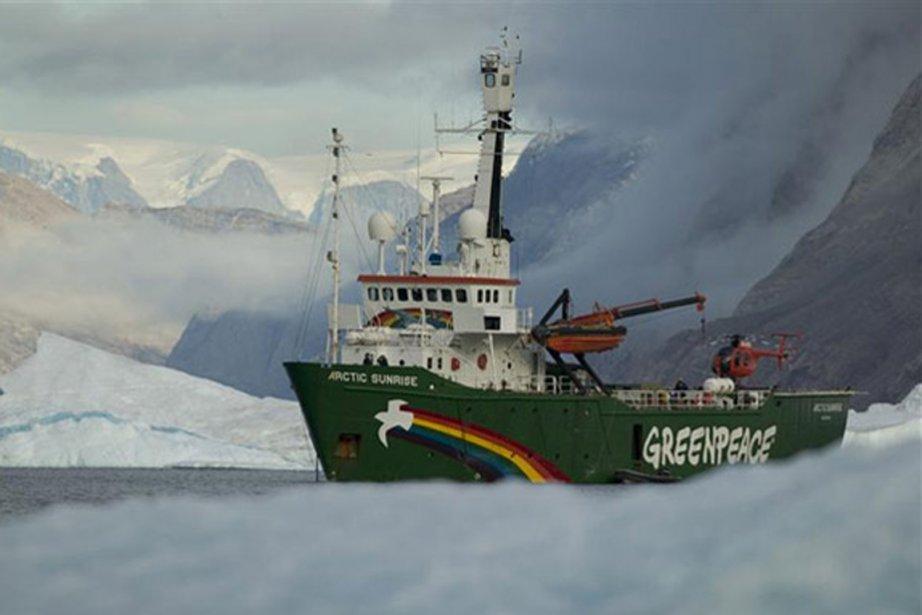 L'Artic Sunrise, le brise-glace de Greenpeace.... (PHOTO FOURNIE PAR GREENPEACE)