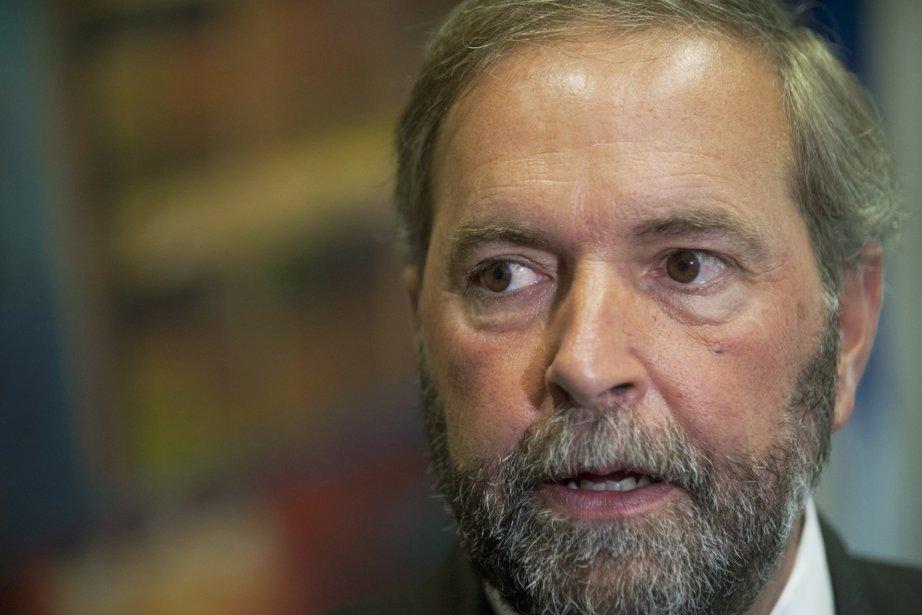 Thomas Mulcair, le chef du Nouveau Parti démocratique.... (PHOTO GRAHAM HUGUES, LA PRESSE CANADIENNE)