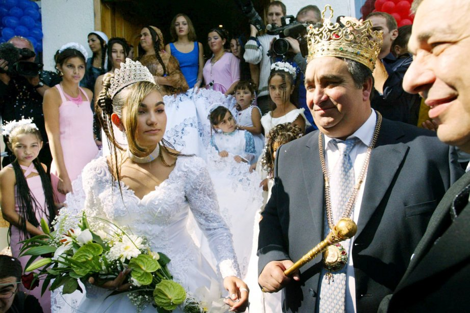Florin Cioaba au mariage de sa fille Ana... (PHOTO DANIEL MIHAILESCU, ARCHIVES AFP)