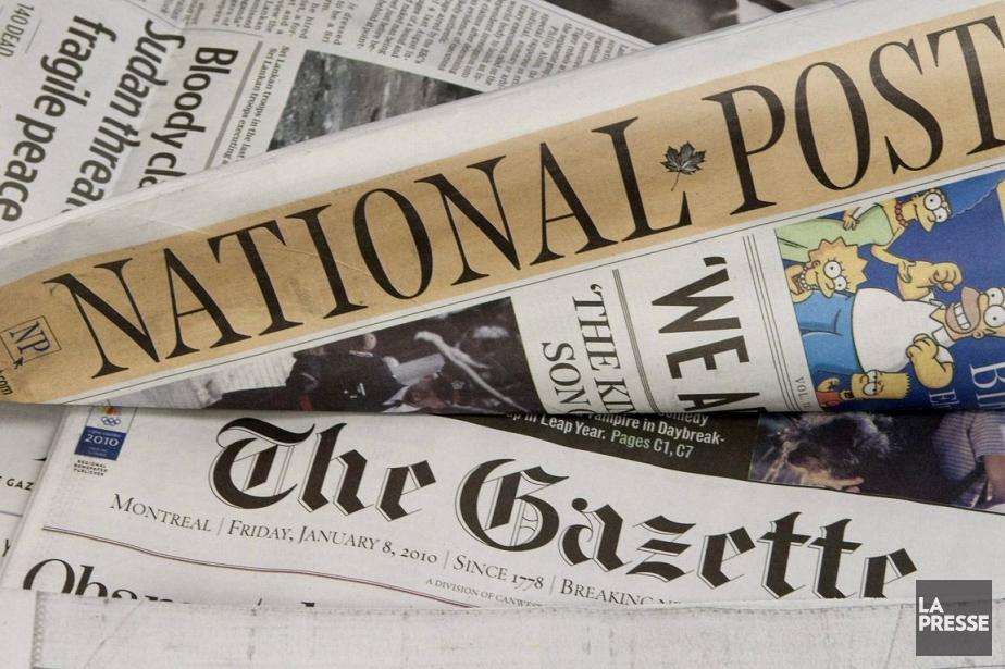 L'action de Postmedia, éditeur du National Post, a... (Photo: PC)