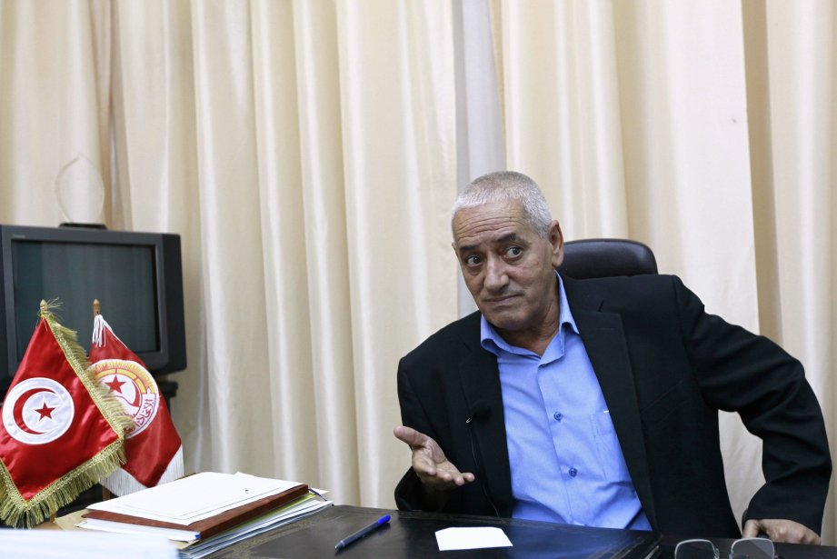 Le secrétaire général du syndicat UGTT, Houcine Abassi.... (Photo ANIS MILI, Reuters)