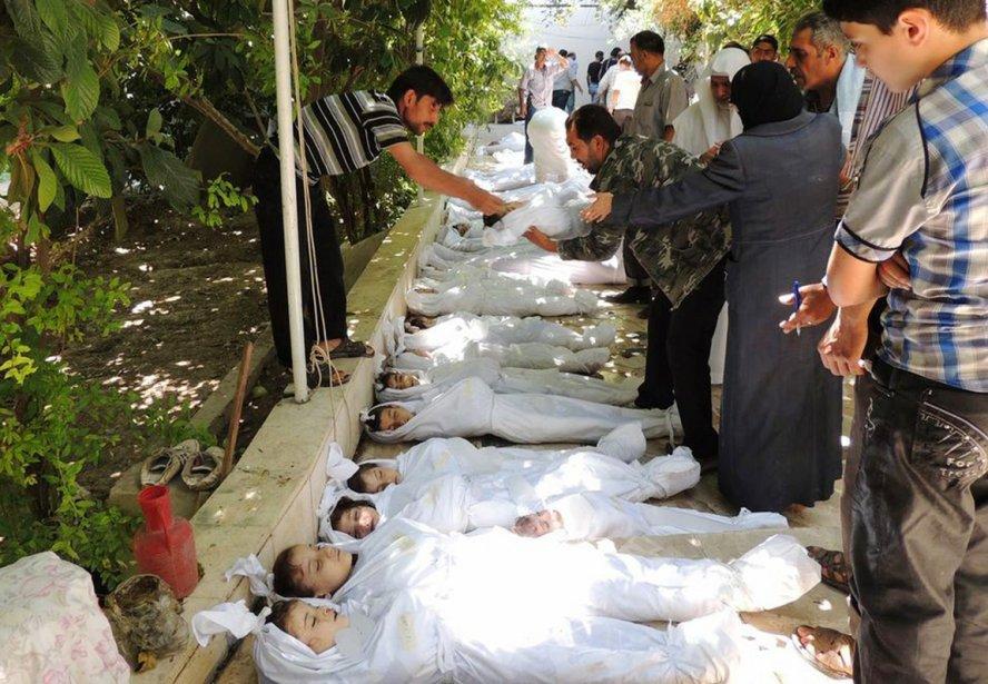L'attaque aurait fait jusqu'à 1300 morts selon l'opposition syrienne, dont beaucoup de femmes et d'enfants. | 21 août 2013
