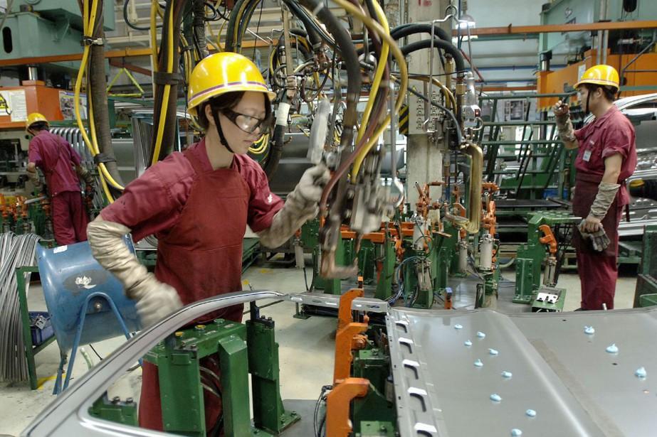 «L'économie chinoise montre toujours des signes évidents d'affaiblissement... (Photo Getty Images)