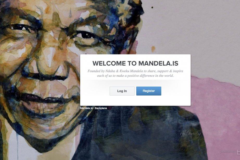 Une capture d'écran de la page d'accueil de...