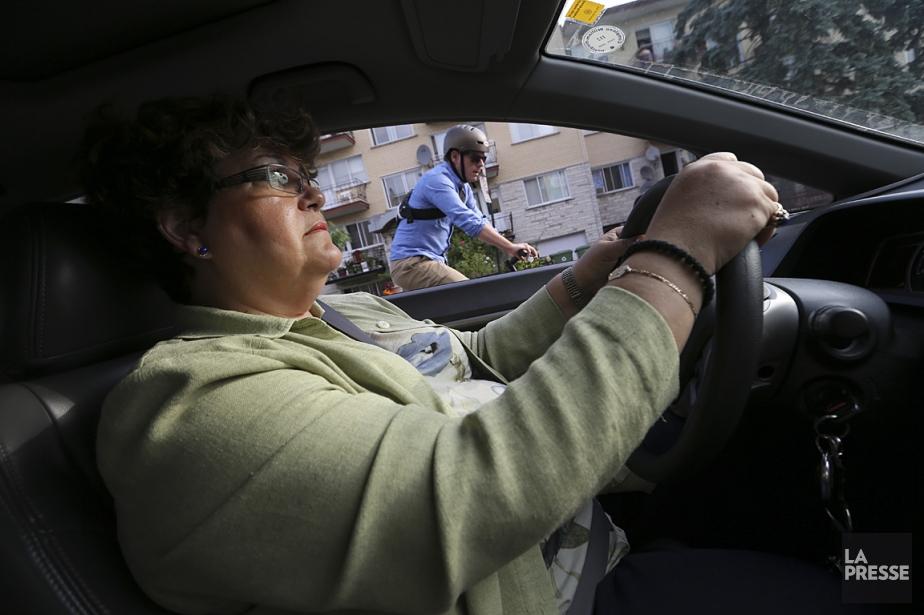 Sur cette photo, vous voyez la conseillère municipale... (Photo Martin Chamberland, La Presse)