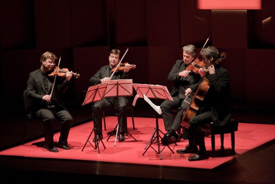 Le Quatuor Vogler, au concert final de l'Académie... (PHOTO AMÉLIE GAGNÉ, FOURNIE PAR L'ACADÉMIE INTERNATIONALE DE QUATUOR À CORDES DE McGILL)